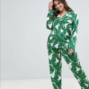 Brand new ASOS curve pajamas palm print